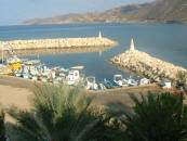 Pomos fishing harbour
